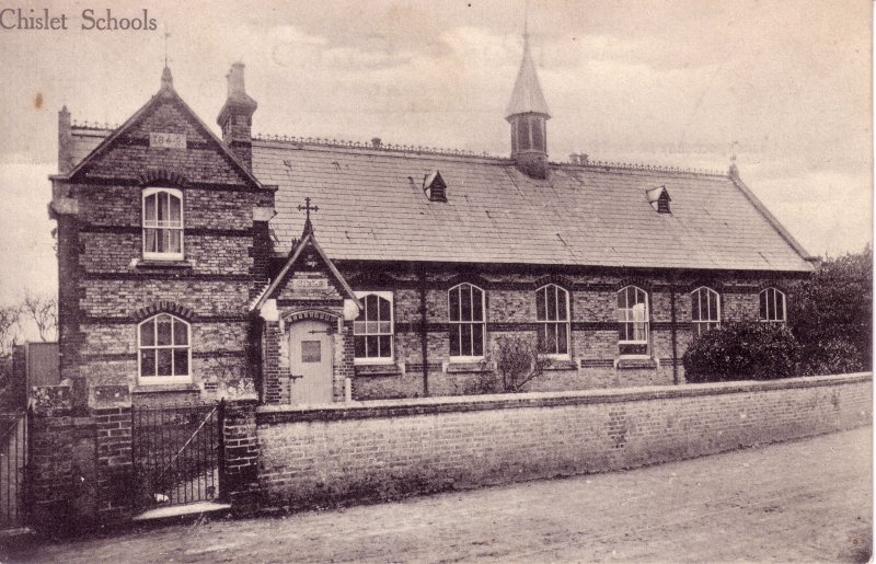 Chislet School. Note the Bell Tower which has since been removed School Bell Images